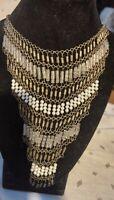 Stunning beaded Chandelier Drop bib Collar necklace