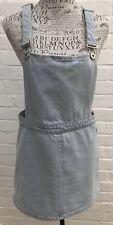 Glamorous Denim Pinafore Dress Size 12 Blue Festival Cotton Summer Dungaree