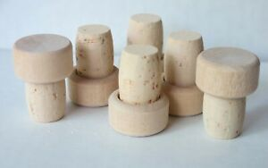 T CORKS  Tasting 100 ALL TAN  with Wood tops 19 mm