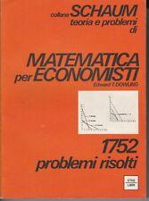 DOWLING - MATEMATICA PER ECONOMISTI - COLLANA SCHAUM (neg)