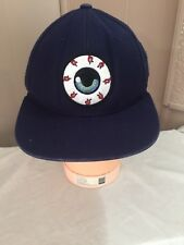 MNWKA (Mishka) ??? Blue Eye Eyeball Keep Watch Punk Snapback Black Hat RARE