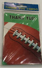 Football Thank You Cards Notes Blank 8 Count New