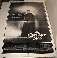 1980 The ELEPHANT MAN 1 SHEET MOVIE POSTER JOHN HURT ANTHONY HOPKINS CLASSIC