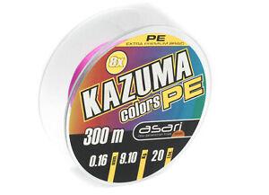 Asari Kazuma PE 8-fach rund-geflochtene Angelschnur Multicolor Made in Japan