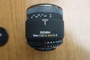 Sigma EX 50mm f/2.8 DG Macro D Lens - Nikon AI-S F Mount - AF