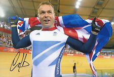 Chris hoy de Londres 2012 Oro Medalla ganador Mano Firmado Foto 12x8 1.