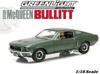 GREENLIGHT 1/18 Steve McQueen Bullitt 1968 Ford Mustang GT 12938