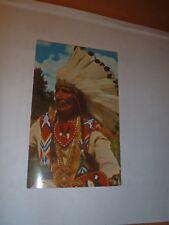 Postcard Post Card Native American    Indian Chief  in full regalia
