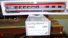 """RAIL TOP 32605 carrozza EC89 Nuova livrea bigrigio/rosso""""Express Restaurant"""" OBB"""