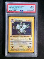 1999 Pokemon Fossil Magneton HOLO First Edition #11 PSA Graded MINT 9!!!!!!