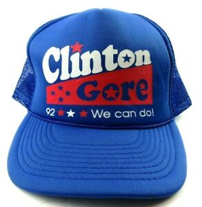 Vintage 1992 Bill Clinton - Gore '92 President Campaign Snapback Cap We Can Do!