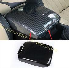 Carbon Fiber Inner Armrest Box Panel Cover Trim For Toyota Prado FJ150 2010-2018