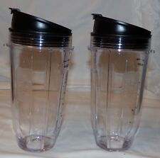 Nutri Ninja Blender Cup w/ Sip and Seal Lids 2 pcs 24 oz New Replacement Cups