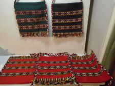 VINTAGE PERU NAZCA AZTEC ANDES MEXICAN KILIM STYLE FLAT BAGs OR  BUCKET BAGs