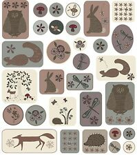 Lynette Anderson Wildflower Wood Sticker sheets