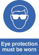 Protezione oculare dev' essere indossata - IN PVC RIGIDO IMPERMEABILE