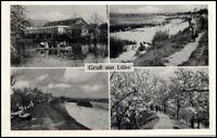 Gruss aus LÜHE Fährhaus Brücke 1 bei Steinkirchen AK alte Ansichtskarte