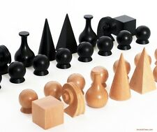 MAN RAY CHESS MEN - CLASSIC MODERN 20th C. SET -  MADE IN GERMANY (709)
