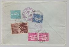 1938 Etampes France Registered Airmail  cover to USA