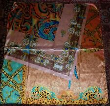 LARGE 80s STYLE  PRINT SCARF IN EXCELLENT  CONDITION