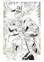 """Howard Simpson Original Art - """"Madame Synn"""" page #11 from League of Champions #3"""