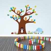 Wandtattoo Wandaufkleber Baum Eulen Hase Elefant Wandsticker Kinderzimmer #90