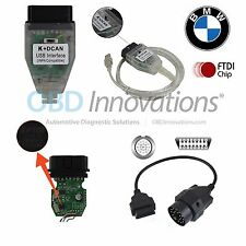 BMW INPA EDIABAS NCS K D-CAN OBD2 USB FTDI + Jumper Switch + 20 Pin Cable