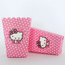 12 Pcs Set, Hello Kitty Pop Corn Candy Boxes Kids Birthday Party Supply