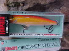 Rapala Orginal Balsa Floating F07 GFR Color GOLD FL RED for Bass/Walleye/Trout