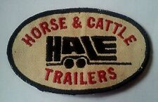 Vintage, Hale Horse & Cattle Trailers Embroidered Oval Sew-on Patch