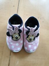 Disney Minnie Mouse Girl's Pink Spotted Trainers Size 3 Infant
