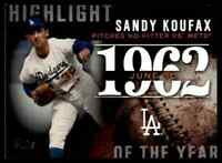 2015 TOPPS HIGHLIGHT OF THE YEAR SANDY KOUFAX LOS ANGELES DODGERS #H-46 INSERT