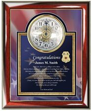 Law Enforcement Police Academy Gift Sheriff Graduation School Clock Graduate