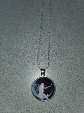 FAIRY SITTING ON THE MOON UNISEX SILVER PENDANT NECKLACE ADULT/KID NEW
