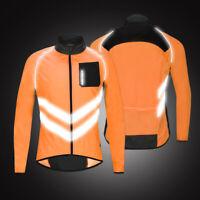 Reflective Windproof Cycling Jacket Windbreaker MTB Bike Riding Sports Jersey