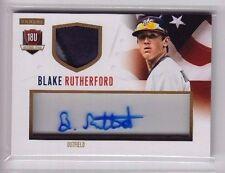 2014 Panini USA Baseball Box Set Blake Rutherford Acetate Patch Auto Rc (19/20)