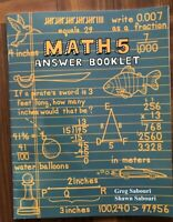Teaching Textbooks Math 5: Answer Booklet (No CDs)