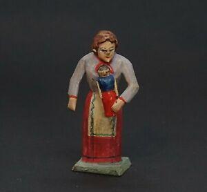 Grulicher Krippenfigur,  Mädchen mit Puppe    (# 13873)