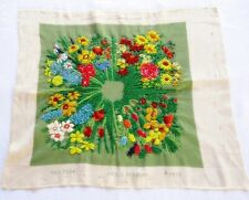 """Vintage 1975 Erica Wilson Flowers Pillow Top 15 1/2"""" Sq Crewel Embroidery"""