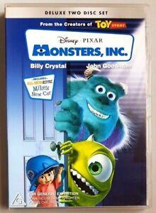 Monsters, Inc - Deluxe Two Disk Set (Billy Crystal /John Goodman) DVD (Region 4)