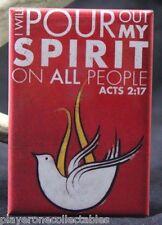 "Acts 2:17 Bible Verse 2"" X 3"" Fridge Magnet. Faith Inspiration Christianity"