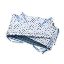 Cot Bumper 100% Luxury Satin Cotton Navy Rounds Bedding Newborn Protector Gift