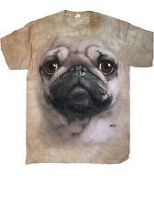 The Mountain Pug Dog Face T-Shirt New Size Medium
