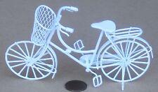 1:12 Bicicleta & compras señoras pintado de blanco Cesta Bicicleta De Casa De Muñecas Accesorio