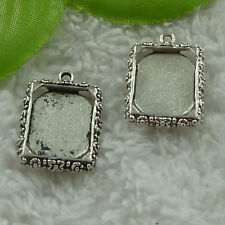 free ship 160 pieces tibet silver frame charms 25x19mm #3846