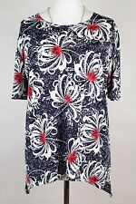 NEW WOMEN  TUNIC  size  18/20 TOP  SHORT SLEEVE  BLOUSE   9075