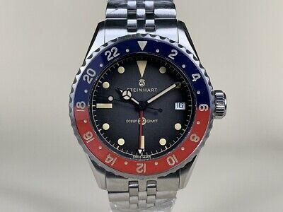 NEW Steinhart Ocean 39 Vintage Pepsi GMT Premium Hong Kong LIMITED EDITION Watch