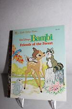 Walt Disney's Bambi Friends of the Forest- A Little Golden Book 1993 #101-62