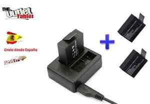 Cargador doble Vídeo Cámara EXCELVAN Q8 / NK Deportiva sumergible +  2 baterías