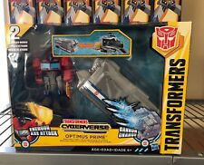 Transformers OPTIMUS PRIME Battle Base Trailer cyberverse Energon Axe Attack NEW